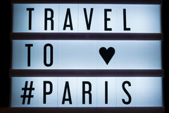 Travel to Paris Royalty Free Stock Images