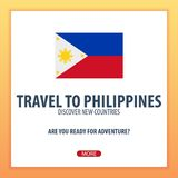 Travel to Philippines. Discover and explore new countries. Adventure trip. Stock Image