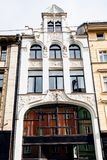 Facade of old apartment house in Wroclaw city Royalty Free Stock Images