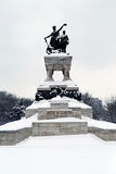 Travel to Romania: National Heros Statue Bucharest Royalty Free Stock Images