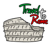 Travel to Rome. Creative design of Travel to Rome Royalty Free Stock Image