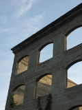 Travel to Rome or Greece and see ancient columns and pillars. Stock Photos