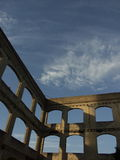 Travel to Rome or Greece and see ancient columns and pillars. Stock Photo