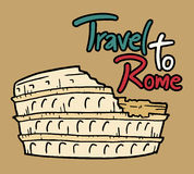 Travel to Rome message Royalty Free Stock Images