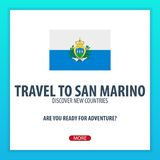 Travel to San Marino. Discover and explore new countries. Adventure trip. Travel to San Marino. Discover and explore new countries. Adventure trip Royalty Free Stock Image