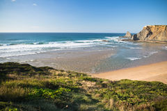 Travel to scenic seascapes in south portugal Royalty Free Stock Image
