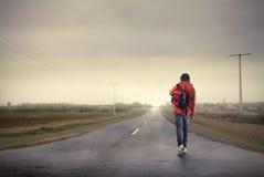 Travel to school Stock Image