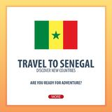 Travel to Senegal. Discover and explore new countries. Adventure trip. Stock Photos