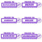 Travel to stamps Stock Photos