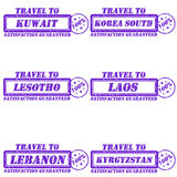 Travel to stamps Royalty Free Stock Photos