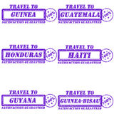 Travel to stamps Stock Image