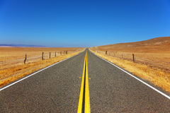 Travel to steppes of California Stock Image