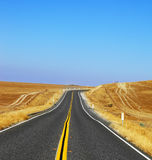 Travel to steppes of California on road Stock Images