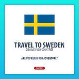Travel to Sweden. Discover and explore new countries. Adventure trip. Travel to Sweden. Discover and explore new countries. Adventure trip Stock Photography