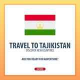 Travel to Tajikistan. Discover and explore new countries. Adventure trip. Travel to Tajikistan. Discover and explore new countries. Adventure trip Royalty Free Stock Images