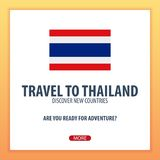 Travel to thailand. Discover and explore new countries. Adventure trip. Royalty Free Stock Photography