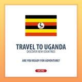 Travel to Uganda. Discover and explore new countries. Adventure trip. Travel to Uganda. Discover and explore new countries. Adventure trip Stock Images