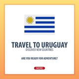 Travel to Uruguay. Discover and explore new countries. Adventure trip. Royalty Free Stock Photos