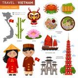 Travel to Vietnam. stock illustration