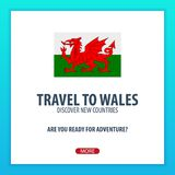 Travel to Wales. Discover and explore new countries. Adventure trip. Travel to Wales. Discover and explore new countries. Adventure trip Stock Image