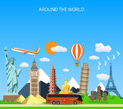 Travel to World. vector illustration