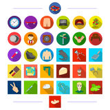 , travel, tools, plants and other web icon in flat style.cooking, animal, tourism icons in set collection. Travel, tools, plants and other  icon in flat style Stock Photo