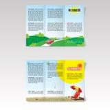 Travel Tour Brochure Vector illustration Stock Photography