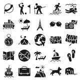 Travel and Tour Vector Icons Very trendy and useful for Traveling Projects. stock illustration