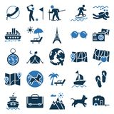 Travel and Tour Vector Icons Very trendy and useful for Traveling Projects. royalty free illustration