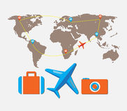 Travel tour of the world Royalty Free Stock Photography