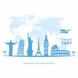 Travel and tourism background Royalty Free Stock Photos