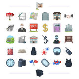 Travel, tourism, business and other web icon in cartoon style.  Stock Images