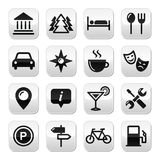 Travel tourism buttons set -  Royalty Free Stock Photography