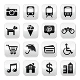 Travel tourism buttons set -  Royalty Free Stock Images