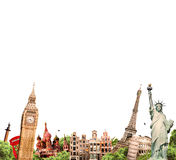Travel. Tourism collage attractions of the world Royalty Free Stock Photo