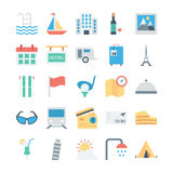 Travel and Tourism Colored Vector Icons 4 Stock Photography