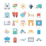Travel and Tourism Colored Vector Icons 5 Stock Photography