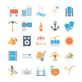 Travel and Tourism Colored Vector Icons 3 Royalty Free Stock Photo