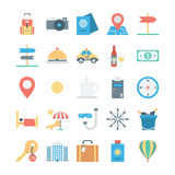 Travel and Tourism Colored Vector Icons 1 Royalty Free Stock Image