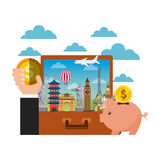 travel and tourism design Royalty Free Stock Photo