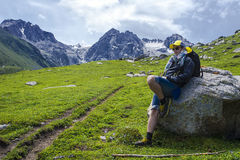 Travel and Tourism. Travel destination: a kind of a mountain ridge Stock Images