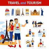 Travel And Tourism Elements Set Stock Photography