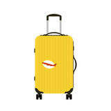 Travel tourism fashion baggage or luggage vacation handle leather big packing briefcase and voyage destination case bag Royalty Free Stock Photo