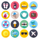 Travel and Tourism Flat Icon Set Royalty Free Stock Images