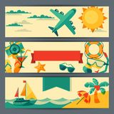 Travel and tourism horizontal banners Royalty Free Stock Photography