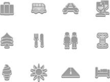 Travel and tourism icon set Royalty Free Stock Images