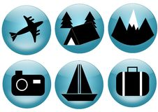 Travel and tourism icon set Stock Photos
