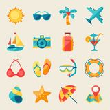 Travel and tourism icon set Royalty Free Stock Photography