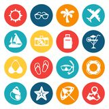 Travel and tourism icon set Royalty Free Stock Image