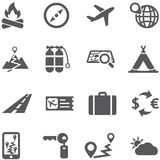 Travel and tourism icon set . Royalty Free Stock Images